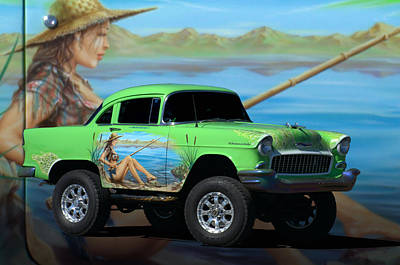 Photograph - 1955 Chevrolet Shorty 4 X 4 by Tim McCullough
