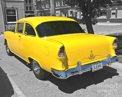 Photograph - 1955 Chevy 210 by Kathy M Krause