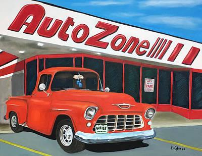 1955 Chevy - Autozone Art Print