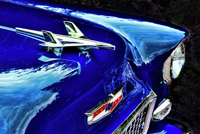 Photograph - 1955 Chevy Bel Air Hard Top - Blue by Peggy Collins