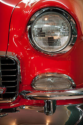 Photograph - 1955 Chevy Bel Air Headlight by Sebastian Musial