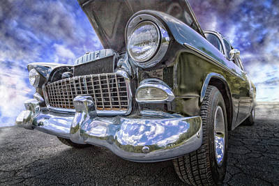 Photograph - 1955 Chevy Belair by Debra and Dave Vanderlaan