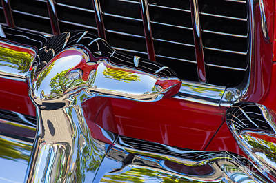 Photograph - 1955 Chevy Coupe Grill by Rick Bures