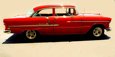 Photograph - 1955 Chevy by Tom Zukauskas