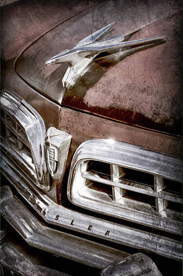 1955 Chrysler Hood Ornament - Grille -0363ac Art Print by Jill Reger