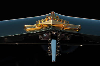 Photograph - 1955 Chrysler Imperial Head Badge by Chris Flees