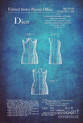 1955 Dior Combo Bra And Corset Design 1 Art Print