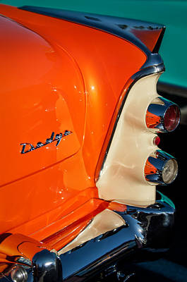 Coronet Photograph - 1955 Dodge Coronet Tail Light Emblem -0050c by Jill Reger