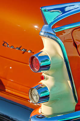 Coronet Photograph - 1955 Dodge Coronet Tail Light Emblem -0086c by Jill Reger