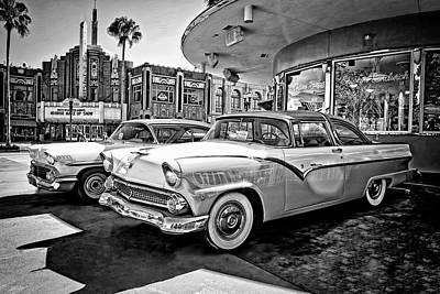 Photograph - 1955 Fairlane Crown Victoria Bw by Carlos Diaz