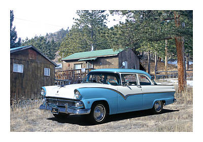 Photograph - 1955 Ford Custom Fairlane by Jack Pumphrey