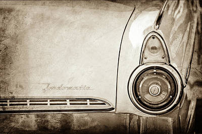Photograph - 1955 Ford Fairlane Fordomatic Taillight Emblem -0419s by Jill Reger