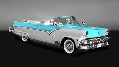 Photograph - 1955 Ford Fairlane Sunliner Convertible  -  55fdsungry9796 by Frank J Benz