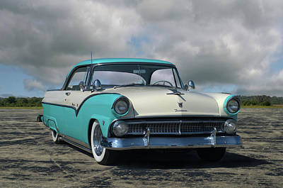 Photograph - 1955 Ford Fairlane Victoria by TeeMack
