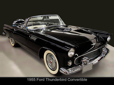 Photograph - 1955 Ford Thunderbird Convertible by Chris Flees