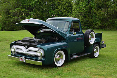 Photograph - 1955 Ford Truck by Mike Martin