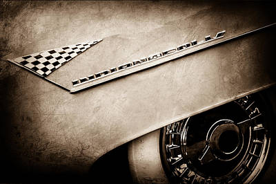Indianapolis Photograph - 1955 Lincoln Indianapolis Boano Coupe Emblem -0295s by Jill Reger