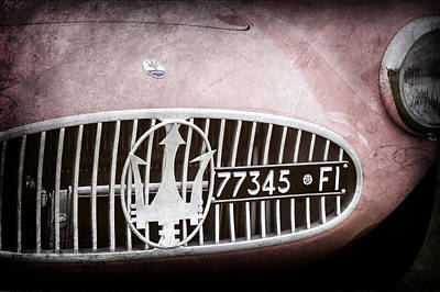 1955 Maserati A6gcs Roadster Grille Emblem -0482ac Art Print by Jill Reger
