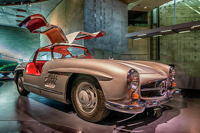 Photograph - 1955 Mercedes-benz 300sl 7r2_dsc8199_05102017 by Greg Kluempers