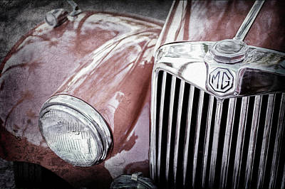 Photograph - 1955 Mg Tf 1500 Grille - 0082ac by Jill Reger
