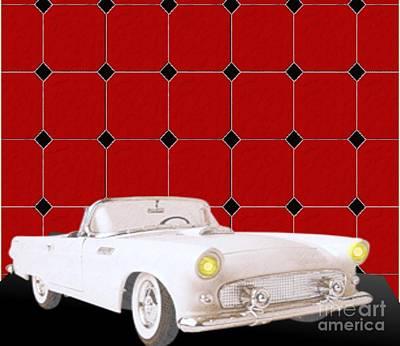 Painting - 1955 Oldsmobile Starfire Convertible by Belinda Threeths