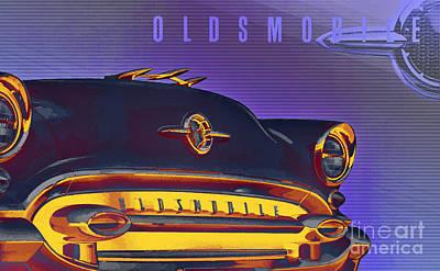 1955 Oldsmobile Ninety-eight 4 Art Print by GabeZ Art