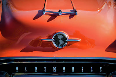 Photograph - 1955 Oldsmobile Rocket 88 Hood Ornament by Jill Reger