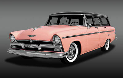 Photograph - 1955 Plymouth Station Wagon  -  1955plymouthstwagfa170940 by Frank J Benz