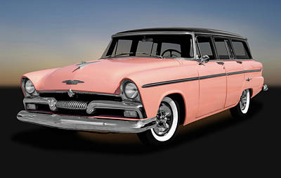 Photograph - 1955 Plymouth Station Wagon  -  1955plymouthwagon170940 by Frank J Benz