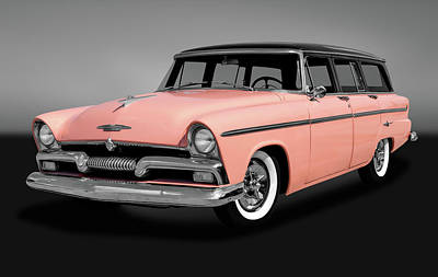 Photograph - 1955 Plymouth Station Wagon  -  1955plystationwagongry170940 by Frank J Benz