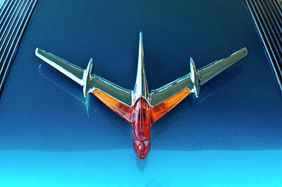1955 Pontiac Safari Hood Ornament 2 Art Print by Jill Reger