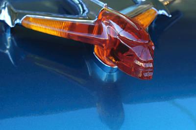 Hoodies Photograph - 1955 Pontiac Safari Hood Ornament by Jill Reger
