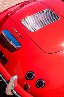 Photograph - 1955 Porsche 356 Pre-a 1500 Speedster Rear Emblem -0924c by Jill Reger