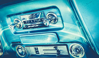 Silver Turquoise Photograph - 1955 Radio by Alisha Jurgens