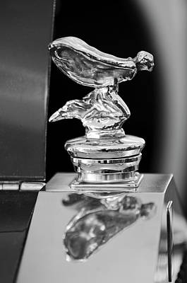 Hoodie Photograph - 1955 Rolls-royce Hood Ornament 5 by Jill Reger