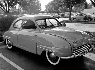 Photograph - 1955 Saab 92b Monochrome by Tony Grider