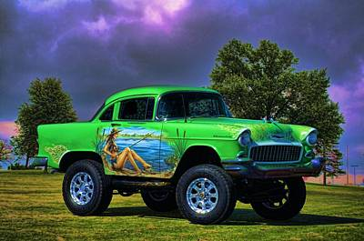 Photograph - 1955 Shorty Chevrolet 4 X 4 by Tim McCullough