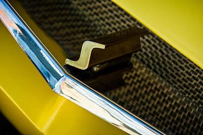 Photograph - 1955 Studebaker Grille Emblem by Jill Reger
