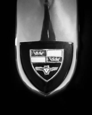 Photograph - 1955 Studebaker President Speedster Emblem -0496bw45 by Jill Reger