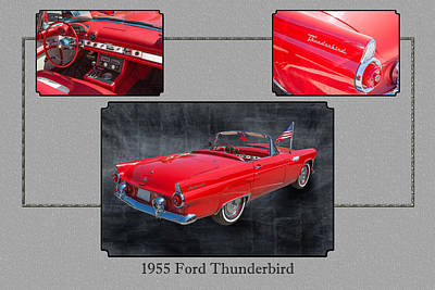 Photograph - 1955 Thunderbird Photograph Fine Art Prints 1251.02 by M K Miller