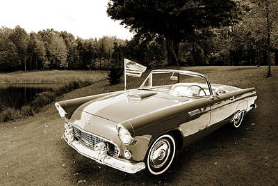 Photograph - 1955 Thunderbird Photograph Fine Art Prints 1264.01 by M K Miller