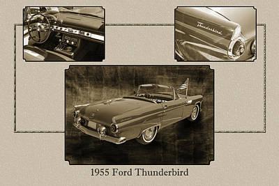 Photograph - 1955 Thunderbird Photograph Fine Art Prints 1266.01 by M K Miller
