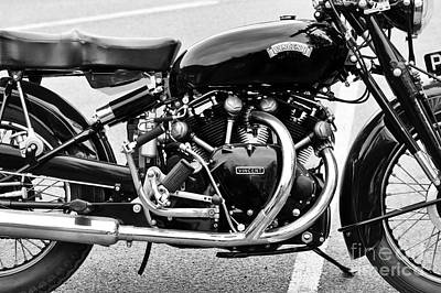 Photograph - 1955 Vincent Black Shadow Series C by Tim Gainey