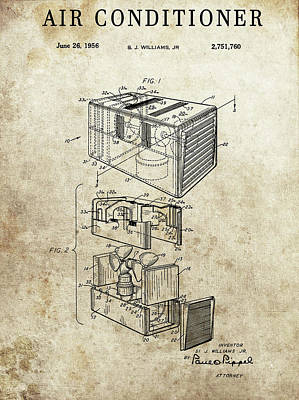 Drawing - 1956 Air Conditioning Unit by Dan Sproul