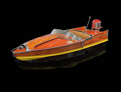 Photograph - 1956 Aristocraft Sea Flash Runabout by Gary Warnimont