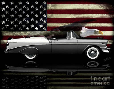 Photograph - 1956 Bellair Convertible Tribute by Peter Piatt
