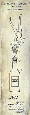 Stein Photograph - 1956 Bottle Stopper Patent by Jon Neidert
