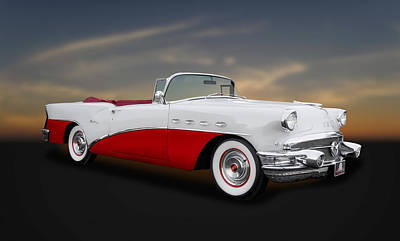 Photograph - 1956 Buick Century Convertible  -  Bu212 by Frank J Benz