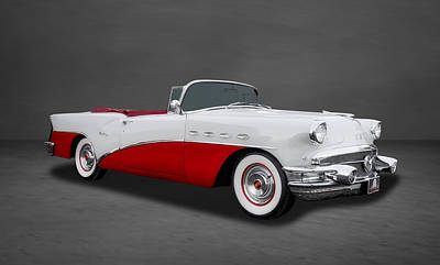 Photograph - 1956 Buick Century Convertible  -  Bu313 by Frank J Benz