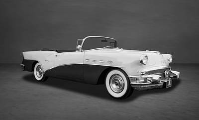 Photograph - 1956 Buick Century Convertible  -  Bubw414 by Frank J Benz